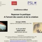 Conférence C2I2 - A l'amont des savoirs et de la création - Georges Amar